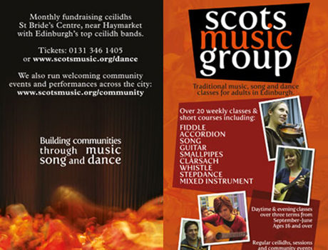 Scots Music Group : Flyer design