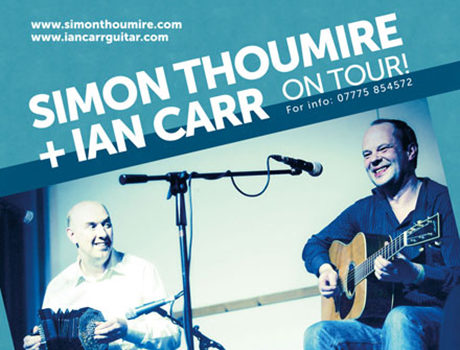 Simon Thoumire & Ian Carr: CD artwork + tour poster