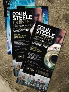 Colin Steele - concert flyer