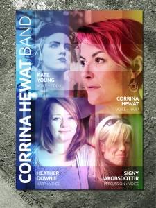 Corrina Hewat Band - blank concert poster