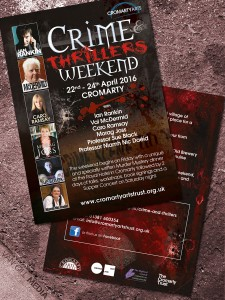 Cromarty Arts Trust, Crime & Thrillers weekend - posters and postcards