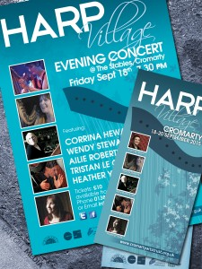 Harp Village - Poster and flyers