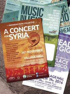 Pathhead Music Collective - various posters