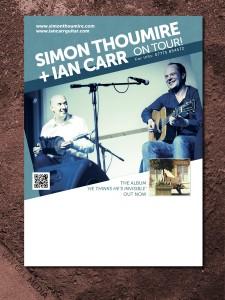 Simon Thoumire & Ian Carr - blank concert poster